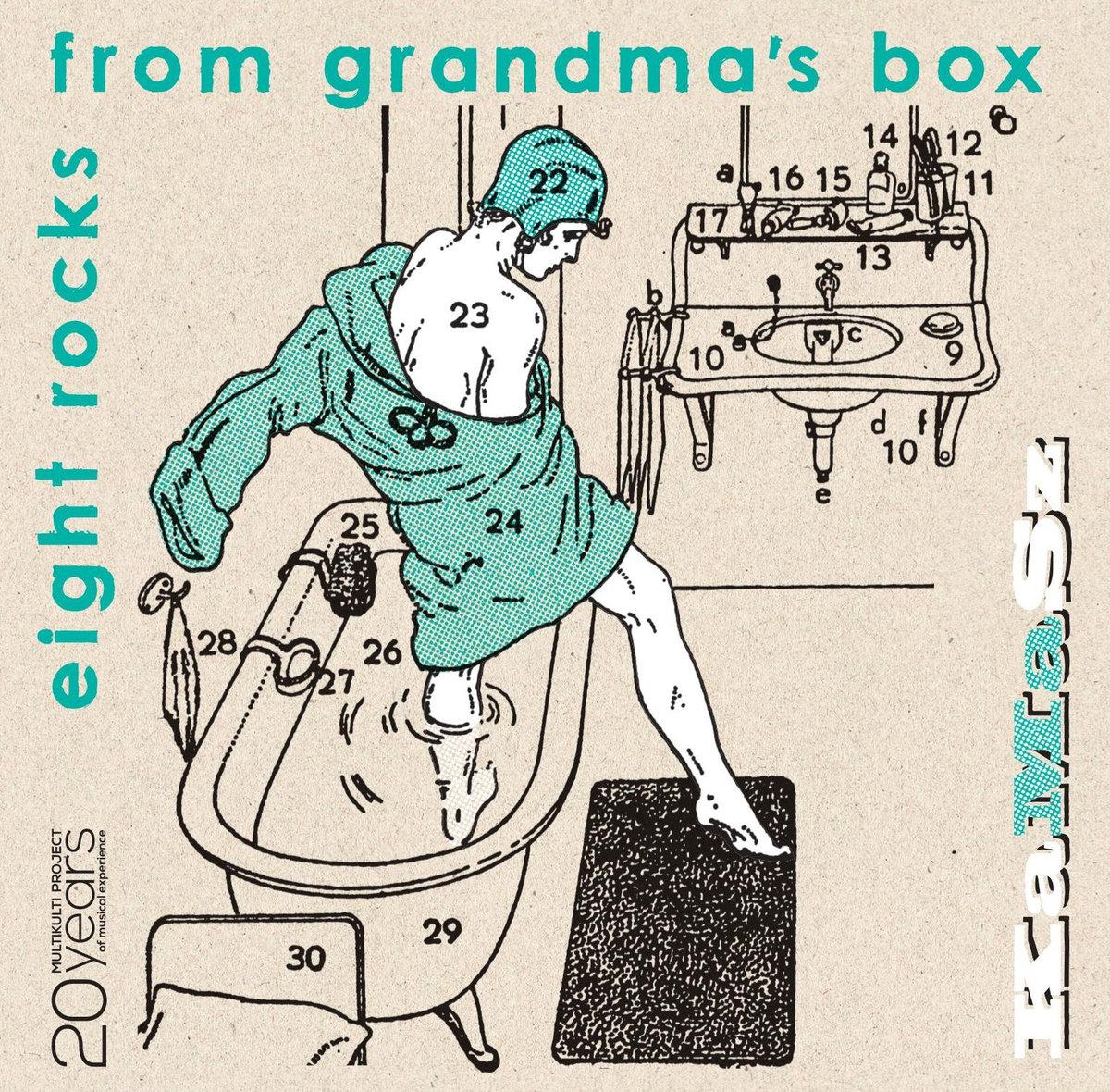 Eight rocks from grandma's box